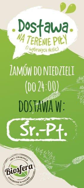 Dostawa na terenie Piły - zamów do niedzieli a dostawa będzie od środy do piątku